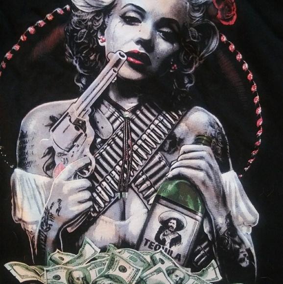 af0ad7ed95b Hot Topic Tops - Gangster Marilyn Monroe Tee